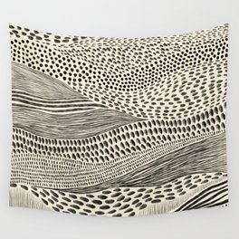 Hand Drawn Patterned Abstract II Wall Tapestry