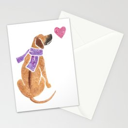 Watercolour Rhodesian Ridgeback Stationery Cards