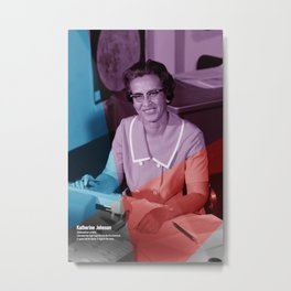 Women of NASA: Katherine Johnson Metal Print