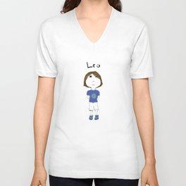 Personalized Art - Leo Unisex V-Neck
