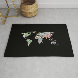 world currency map Rug