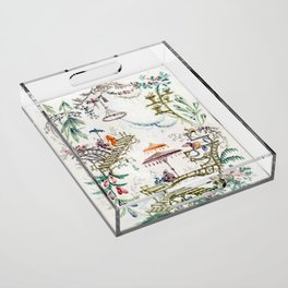 Enchanted Forest Chinoiserie Acrylic Tray