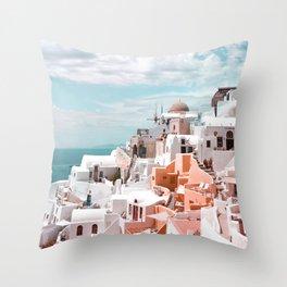 Santorini, Oia Throw Pillow