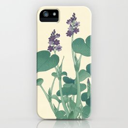 Ohara Koson Japanese Woodcut with Flowers iPhone Case