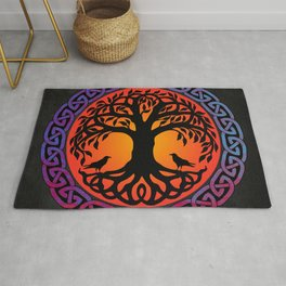 Viking Yggdrasil World Tree Rug