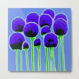 We are Family Allium Metal Print