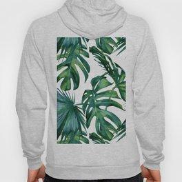 Classic Palm Leaves Tropical Jungle Green Hoodie