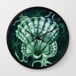 Dystopian Cockle - Lambent Green Wall Clock