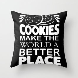 Cookies Sweets Snacking Cookies Chocolate Throw Pillow