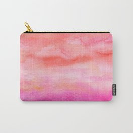 Bright pink orange sunset watercolor hand painted Carry-All Pouch