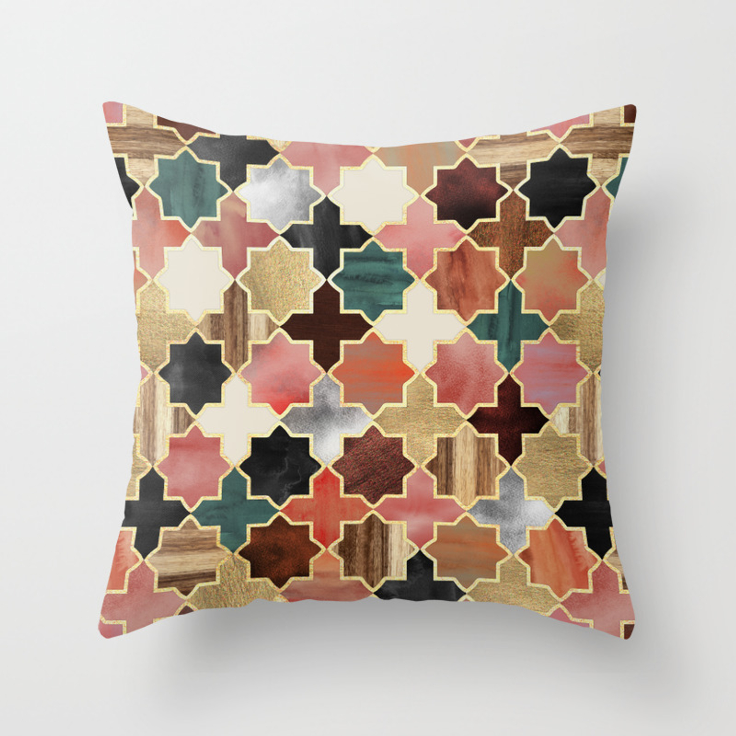 Twilight Moroccan Throw Pillow By Micklyn Society6