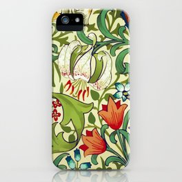 William Morris Garden Lily Floral Print iPhone Case
