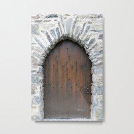 Castle Door Metal Print