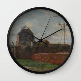 Eugne Boudin - La tour François Ier au Havre Wall Clock
