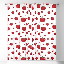 Tomatoes. Artwork and seamless watercolor pattern Blackout Curtain