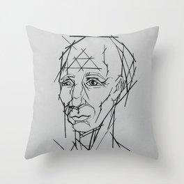 Mr. Linear Throw Pillow
