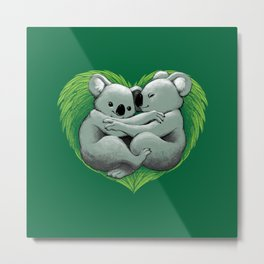 Koala Heart Metal Print