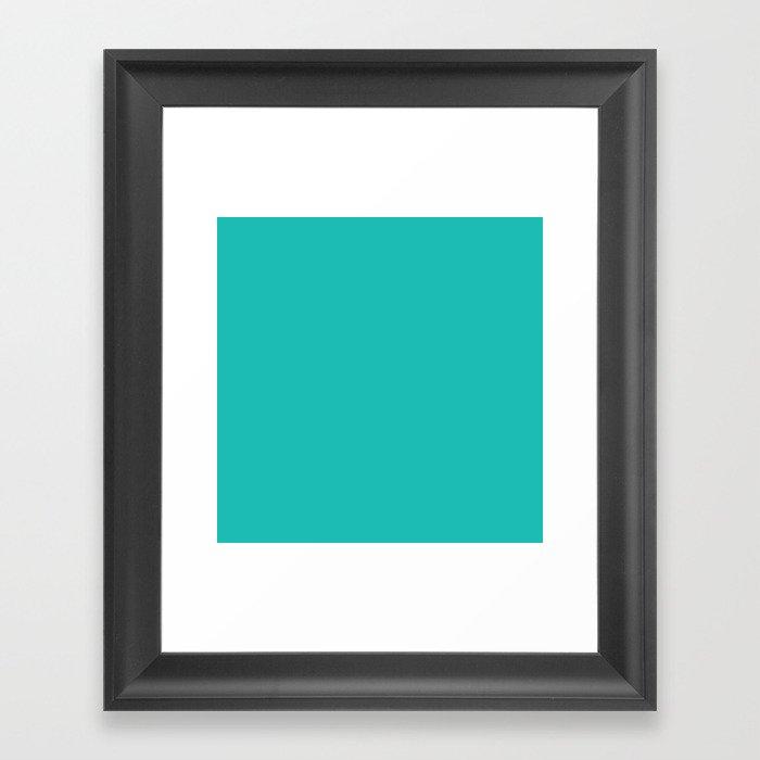 Teal Blue Sea Green Gerahmter Kunstdruck
