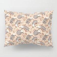 Opossum and Roses Pillow Sham