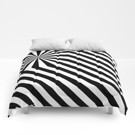 Stripes explosion - Black Comforters