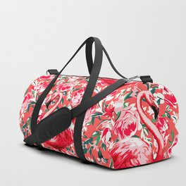 Flamingos and Flowers Duffle Bag