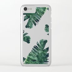 Banana Leaf Watercolor #society6 #buy #decor Clear iPhone Case