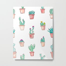 Cactus Succulent Garden Metal Print