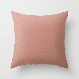 Modern Rose Gold Texture  Throw Pillow