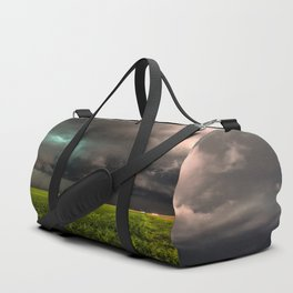 May Thunderstorm - Twisting Storm Over House in Colorado Duffle Bag