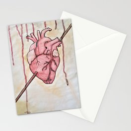Arrow in Heart Stationery Cards