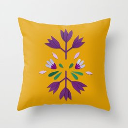 paper flower color Throw Pillow