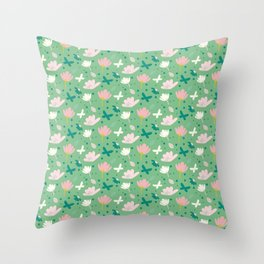 Flowera Throw Pillow