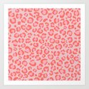 Coral Leopard Print - Living Coral design | Girly Pastel Cheetah by squirrelcoffeedesign