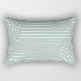 Minimal Line Curvature - Sage Rectangular Pillow