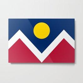 Denver City Flag Metal Print