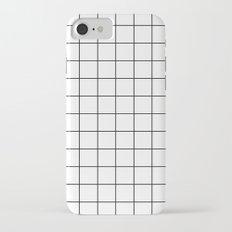Grid Simple Line White Minimalistic iPhone 7 Slim Case