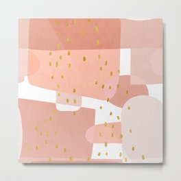 Conglomeration in Pink Metal Print
