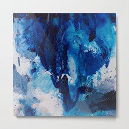 Beautiful Accidents (Blue Waterfall) Metal Print