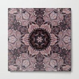Floro Mono Metal Print