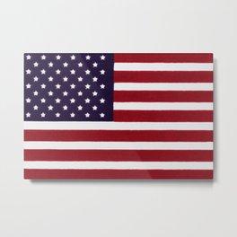 "Stars & Stripes flag, painterly ""old glory"" Metal Print"