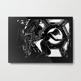 Space Station Girl Metal Print