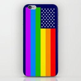 Gay USA Rainbow Flag - American LGBT Stars and Stripes iPhone Skin
