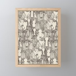 just cattle natural Framed Mini Art Print