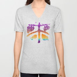 Celtic Cross Fly in Candy Colors Unisex V-Neck