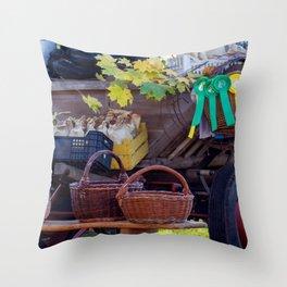 Straw baskets Throw Pillow