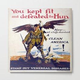 Vintage poster - Stamp Out Venereal Diseases Metal Print