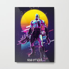 God Of War retro Metal Print