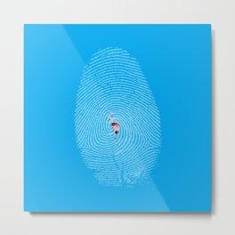 Finger Swim Metal Print