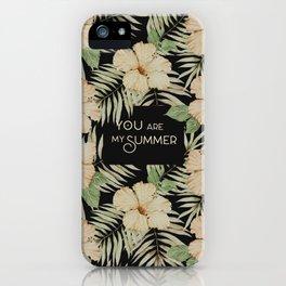 Black Hibiscus  iPhone Case