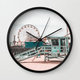 Lifeguard Tower California Wall Clock